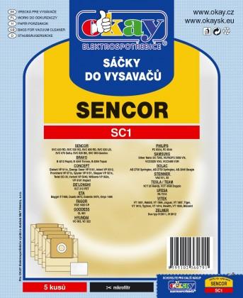 Vrecká do vysávača Sáčky do vysavače SC1 10ks