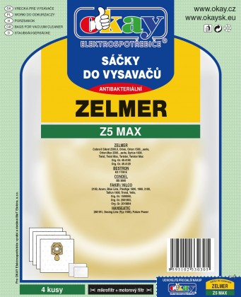 Vrecká do vysávača Sáčky do vysavače Z5 MAX 8ks