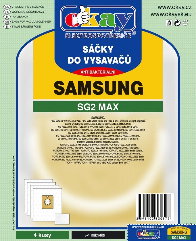 Vrecká do vysávača Sáčky do vysávačov SG2 MAX 8ks