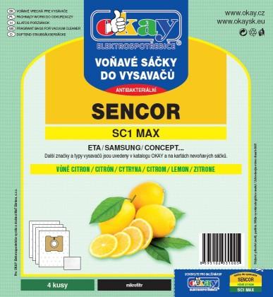 Vrecká do vysávača Sáčky MAXSC1 - vůně citron