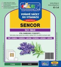 Vrecká do vysávača Sencor MAXSC1, vôňa levandule, 4ks
