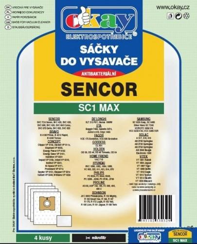 Vrecká do vysávača Sencor SC1MAX, 4ks