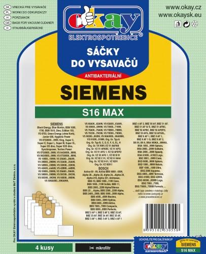 Vrecká do vysávača Siemens S16MAX, 4ks