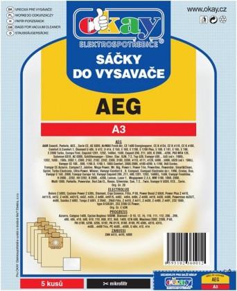 Vrecká do vysávača Vrecká do vysávača AEG A3,10ks
