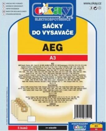 Vrecká do vysávača Vrecká do vysávača AEG A3, 5ks