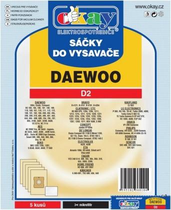 Vrecká do vysávača Vrecká do vysávača Daewoo D2,10ks