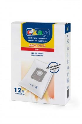 Vrecká do vysávača Vrecka do vysávača Electrolux S-bag (EP01) 12 + 1x filter