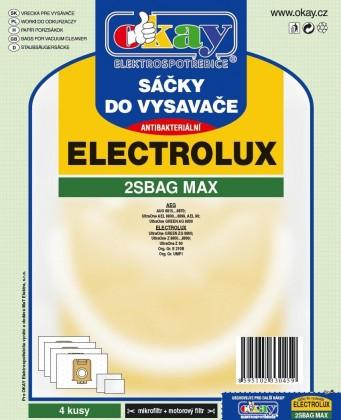 Vrecká do vysávača Vrecka do vysávača Elektrolux 2S-bag MAX antibakteriálne 8ks