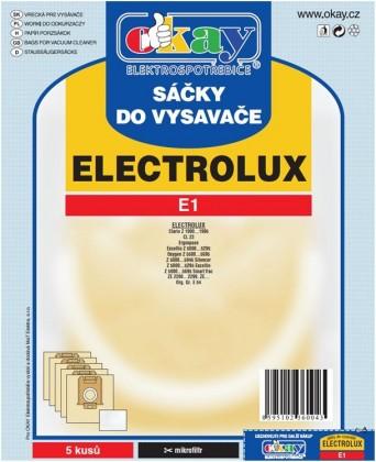 Vrecká do vysávača Vrecka do vysávača Elektrolux E1 10ks