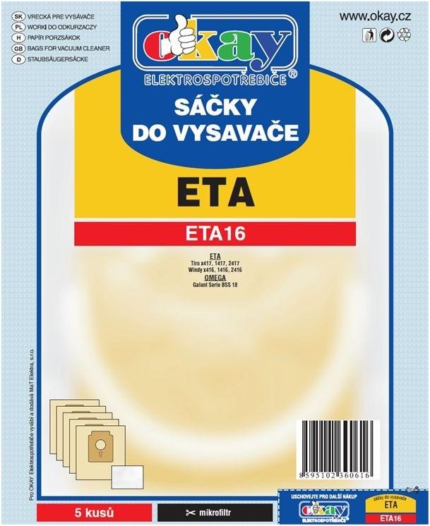 Vrecká do vysávača Vrecka do vysávača ETA 16 10ks