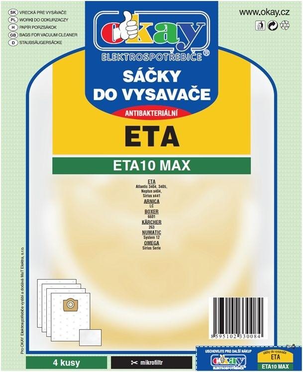 Vrecká do vysávača Vrecká do vysávača Eta ETA 10 MAX, 8ks