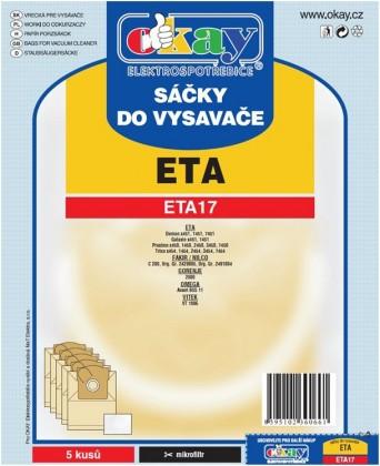 Vrecká do vysávača Vrecká do vysávača Eta ETA 17, 10ks