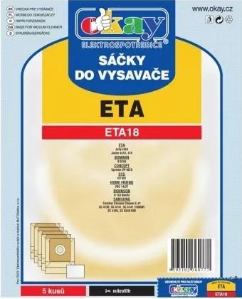 Vrecká do vysávača Vrecká do vysávača Eta ETA18, 5ks