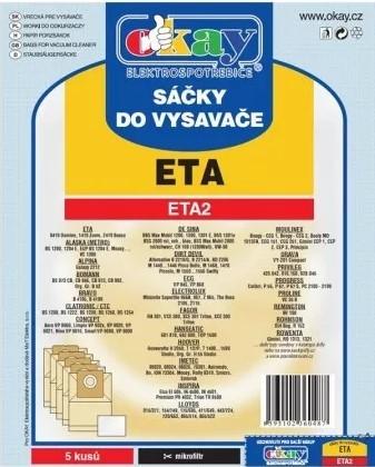 Vrecká do vysávača Vrecká do vysávača Eta ETA2, 5ks