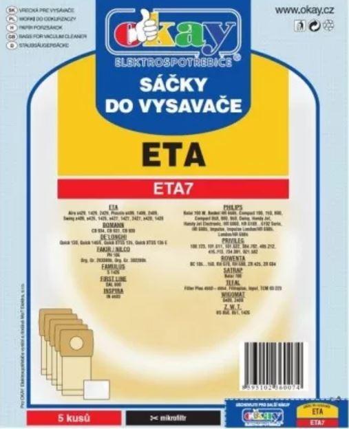 Vrecká do vysávača Vrecká do vysávača Eta ETA7, 5ks