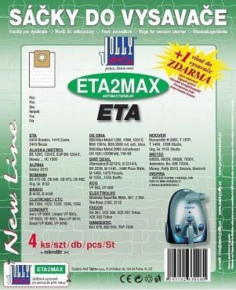 Vrecká do vysávača Vrecká do vysávača Eta MAXETA2, 4ks