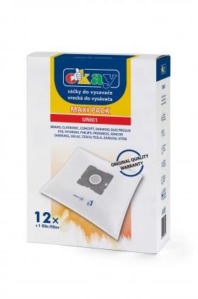 Vrecká do vysávača Vrecká do vysávača K @ M UNI01, 12ks + 1filtr