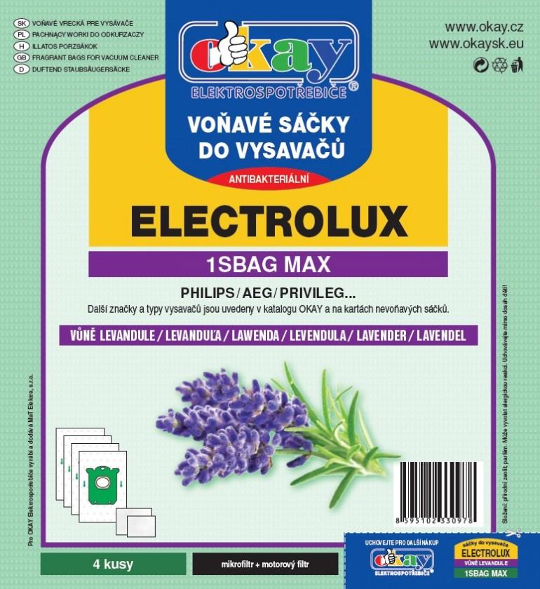 Vrecká do vysávača Vrecka do vysávača MAX1SBAG - vôňa levanduľa 4ks