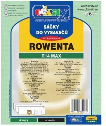 Vrecká do vysávača Vrecká do vysávača Rowenta MAXR14, 4ks