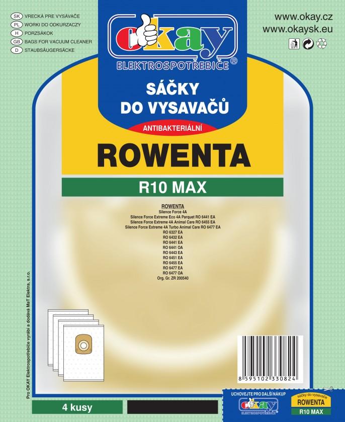 Vrecká do vysávača Vrecká do vysávača Rowenta R10 MAX, 8ks