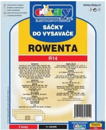 Vrecká do vysávača Vrecká do vysávača Rowenta R14, 3ks
