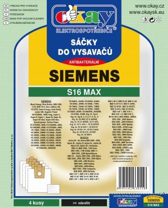 Vrecká do vysávača Vrecka do vysávača Siemens S16 MAX 8ks