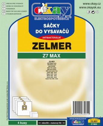 Vrecká do vysávača Vrecka do vysávača Zelmer Z7 MAX 8ks