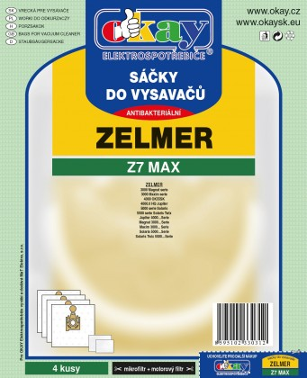 Vrecká do vysávača Vrecká do vysávača Zelmer Z7MAX, 4 ks