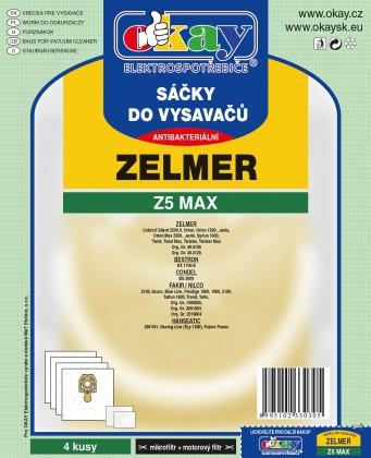6ad17e3d5 ... Vrecká do vysávača Vrecká Z5MAX do vysávača Zelmer 4 ks