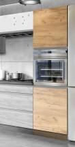 Vysoká skrinka na vstavanú rúru ku kuchyni Brick light
