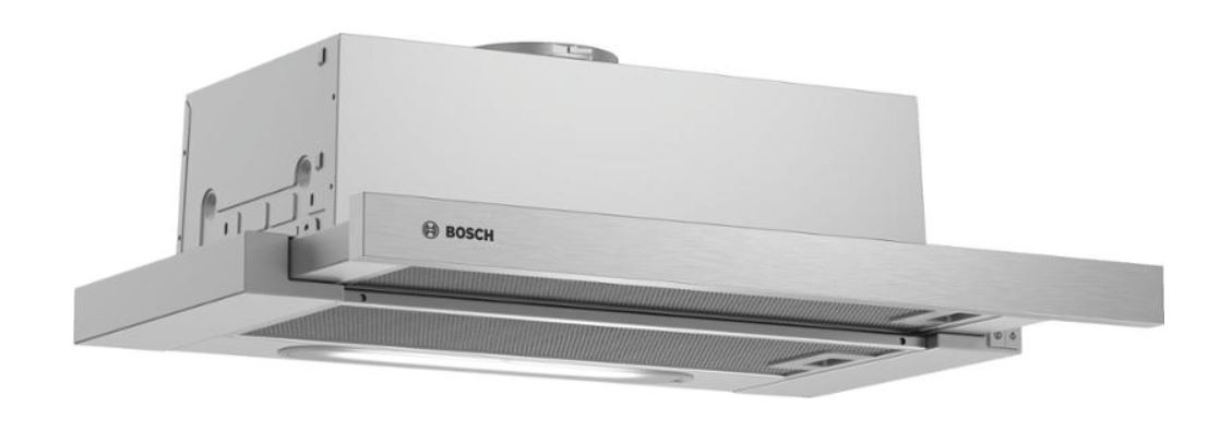 Výsuvný, výklopný odsávač pár Výsuvný odsávač pár Bosch DFM064W50, 60 cm