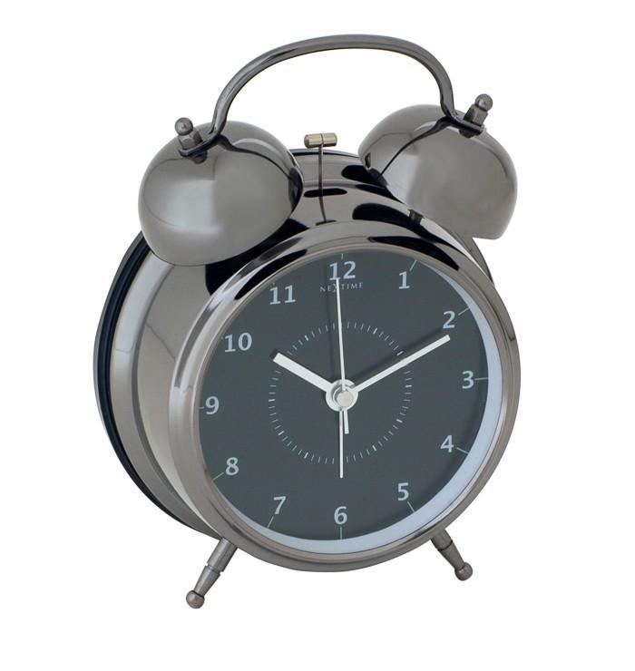 Wake up - hodiny, stojaté, guľaté (kov, čierne)