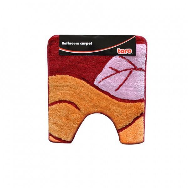WC predložka, 50x55 cm (motív list, oranžová)