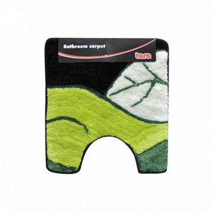 WC predložka, 50x55 cm (motív list, zelená)