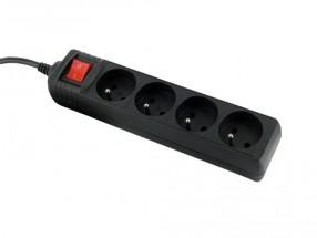 WE Přepěťová ochrana 4 zásuvky 1.8m Black
