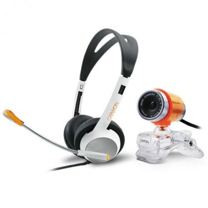Webkamery  Canyon ChatPack,webkamera + sluchátka