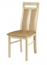 Werona - jedálenská stolička (drevo - dub sonoma/poťah - syntetická koža)