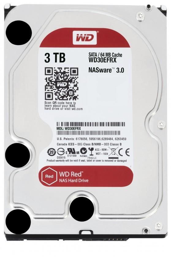 "Western Digital 3TB, 3,5"", 7200RPM, SATAIII, 64MB, WD30EFRX"