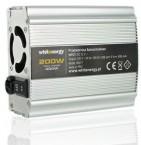 Whitenergy měnič napětí DC/AC 12V / 230V, 200W, USB 06577