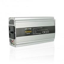 Whitenergy měnič napětí DC/AC 24V / 230V, 400W, USB 06582