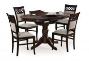 William - Jedálenský stôl 90-124x90 cm (tmavý orech)
