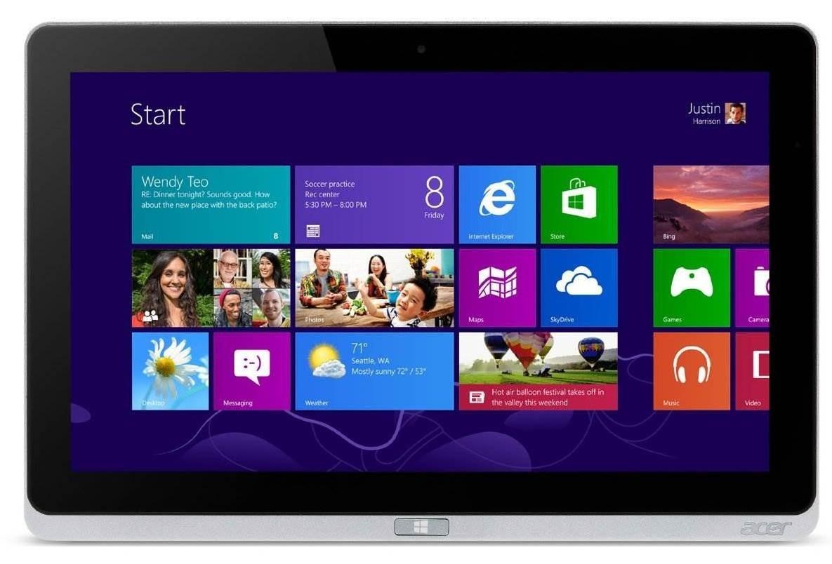 Windows Acer Iconia Tab W700 (NT.L0QEC.003) strieborný