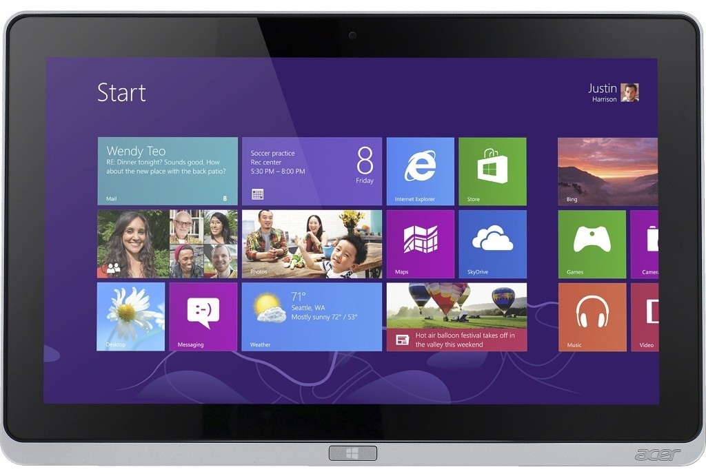 Windows Acer Iconia Tab W700P (NT.L0REC.004) strieborný