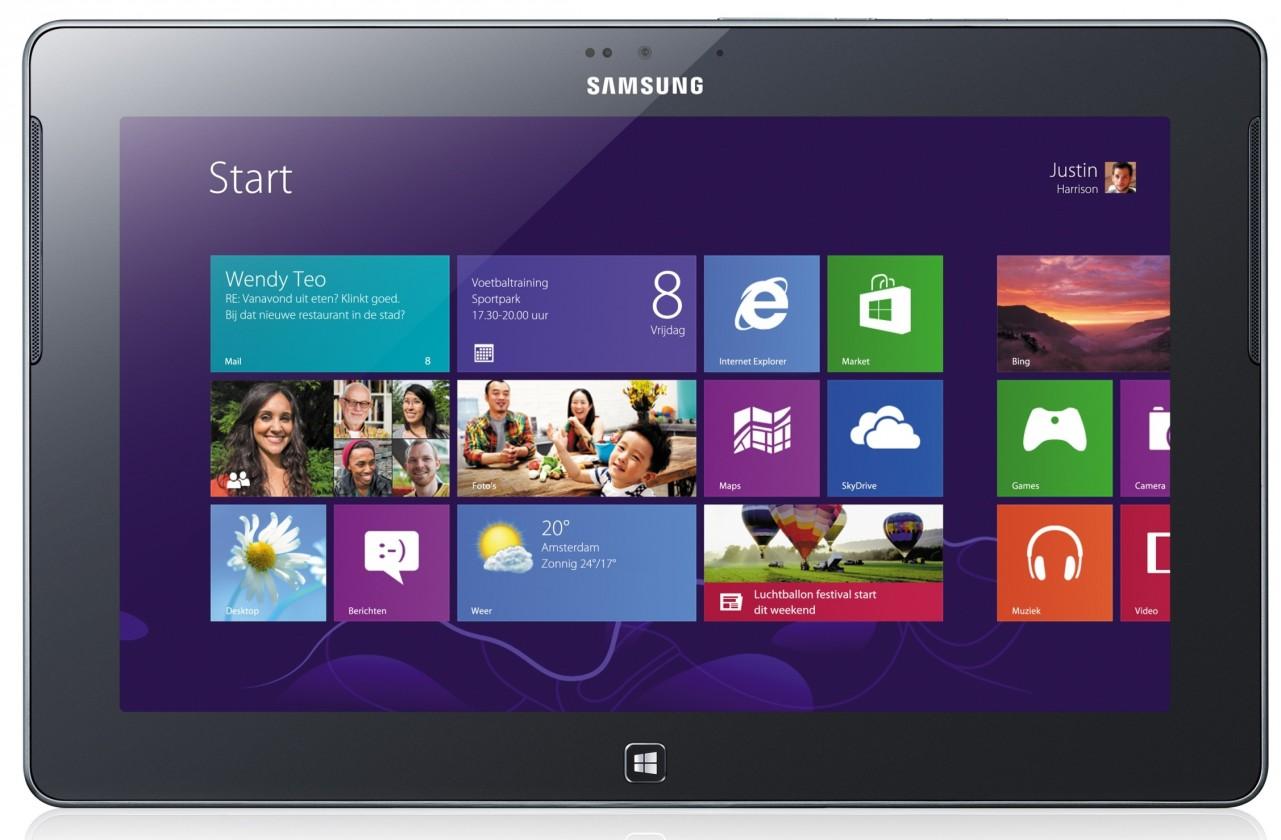Windows Samsung ATIV Tab (GT-P8510),stříbrný ROZBALENO