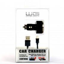 WINNER Autonabíječka USB (3.1), datový kabel iPhone 5, černá