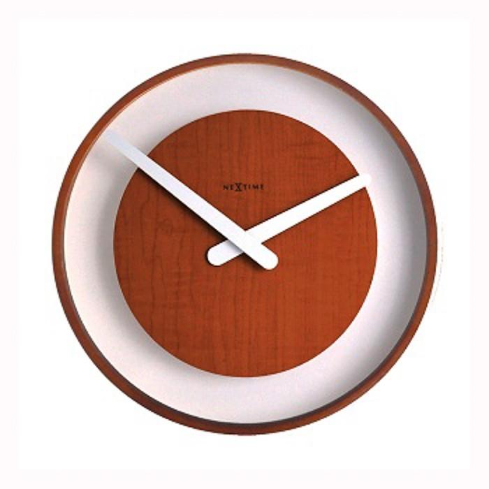 Wood loop - hodiny, nástenné, guľaté (sklo, drevo, čierne)