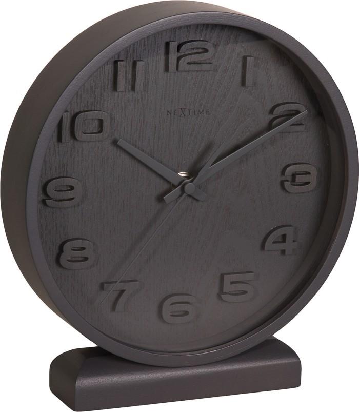 Wood Wood small - hodiny, stojaté, guľaté (drevo, čierne)