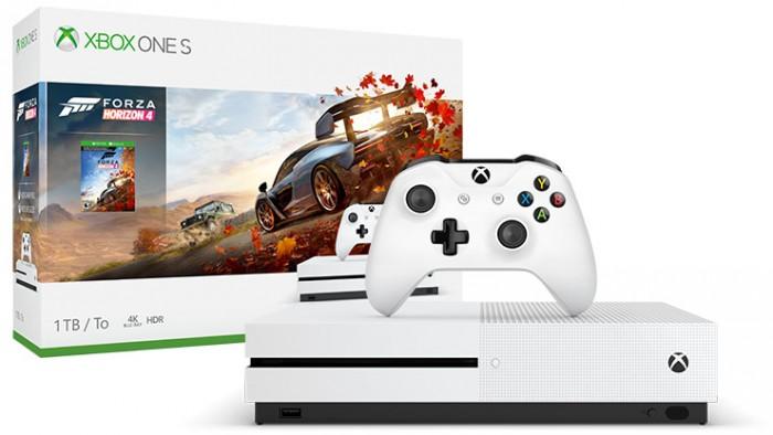 XBOX ONE S, 1TB, bílá + Forza Horizon 4 234-00561 + ZDARMA vertikální stojan