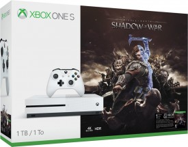 XBOX ONE S, 1TB, bílá + Middle-Earth: Shadow of War  234-00189