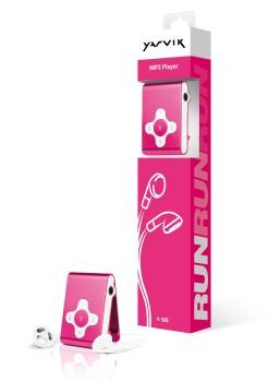 Yarvik MP3 přehrávač RUN 4GB Pink